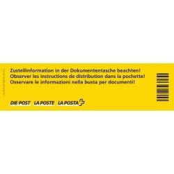 Zustellanweisung «Zustellinformation in der Dokumententasche beachten!»