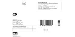 Swiss Post GLS Zollpapier Couvert