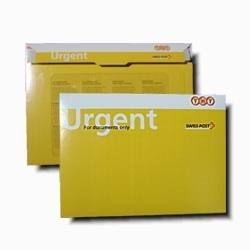 URGENT cardboard envelope